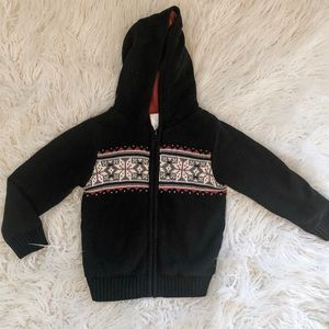 Cozy Warm Thick Knit Hooded Zip Up Top 4T